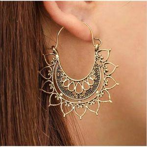 ✨Boho Mandala Gold Earrings✨